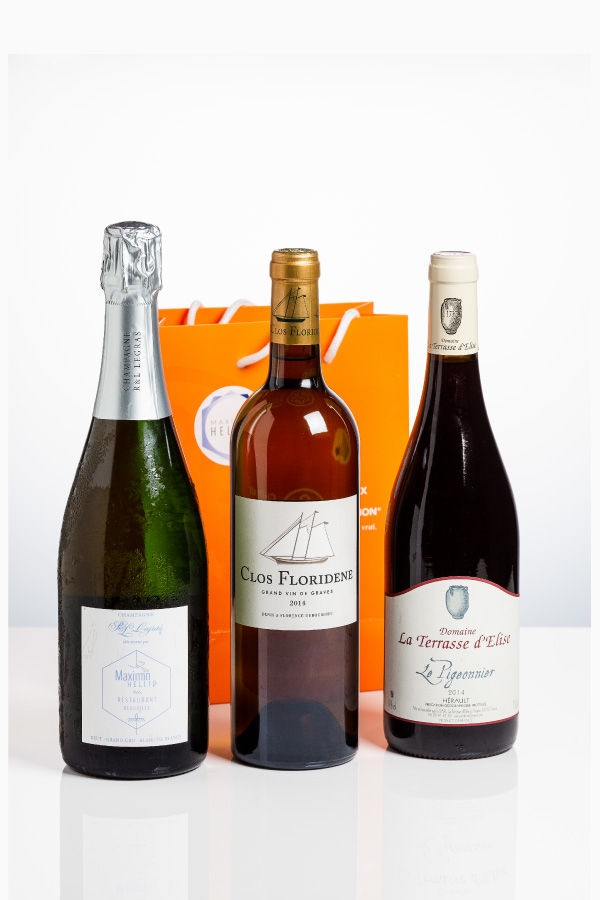 Coffret 2 Vins 1 Champagne - Photo